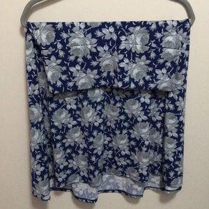 LuLaRoe M Floral Azure Skirt